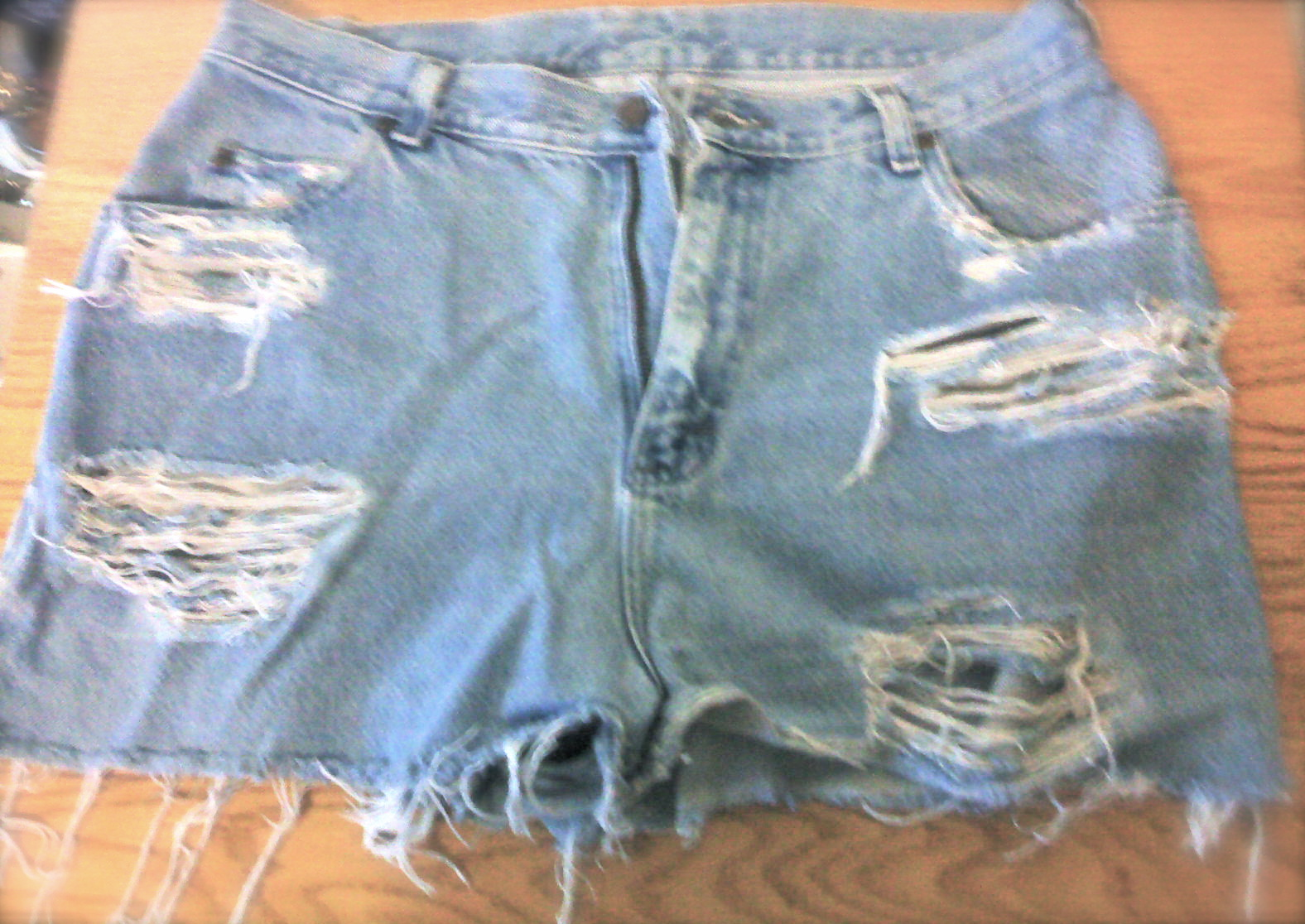 DIY Ripped Denim Cut-off Shorts | Ballinu0026#39; on a Budget