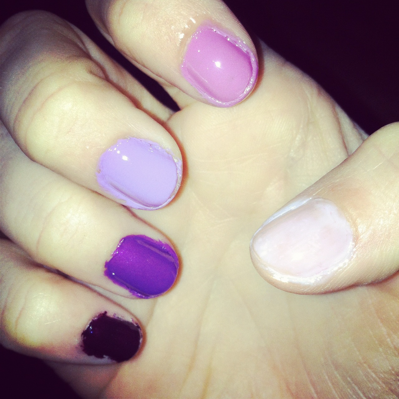 Purple Ombre Nails Ballin On A Budget
